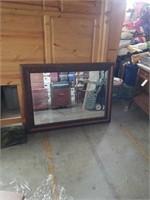 Beveled edge wall mirror