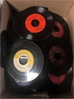 Box of 45 records