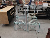 4 antique metal patio chairs