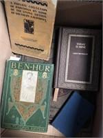 Box of books (Ben Hur, Today is mine etc)