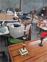 Antique plant holder lamp