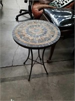 Mosaic patio side table table