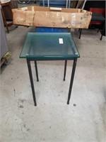 Metal base  Glass top  Lamp table