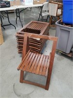Lot of 12 folding chairs