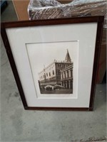 Framed photographs of churches /cathedrals