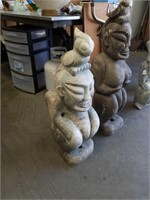 "Asian stone sculpture 30"" tall"