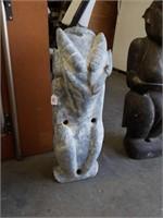 "Asian stone sculpture 22"" tall"