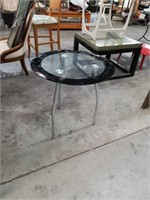 Modern glass top side table