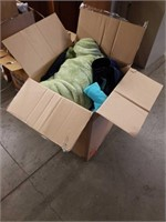 Large box of blankets