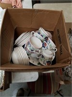 Box of dishes and cups