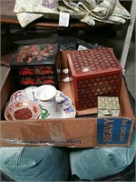 Box of oriental dishes