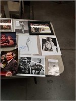 Collection of photos of actors some signed