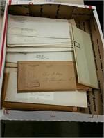Box of ephemera paper goods Etc