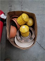 Box of candles and bowls