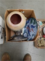 Box of pot and carp plate