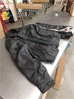 Leather jacket and neck bandana