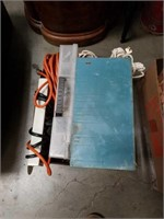 Box of hardware and  Extension cord
