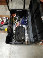 Container of miscellaneous camping items