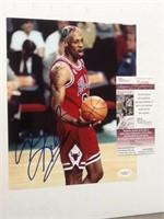 Dennis Rodman 8x10 photo autograph