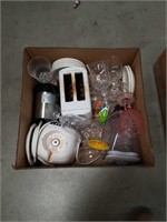 Box of blender toaster and glass