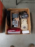 Box of elecktronicks and telephone