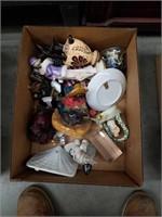 Box of figurines and Knick knacks