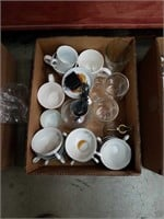 Box of Bavaria cups and miscellaneous