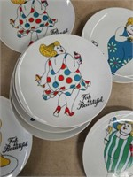 Lot of 8 fat is beautiful plates by Fitz and Floyd