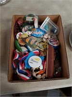 Box of pins and miscellaneous