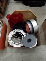 Box of glass bowls and bakeware