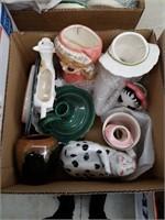 Box of misc pottery etc