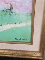 13x16 signed enamel painting