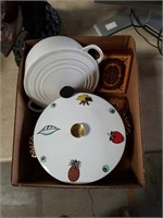 Box of pots and penny paper weight