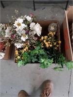 Box of plants