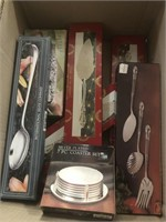 Box of serving utensils