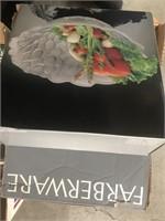 Box of pot and salad bowls