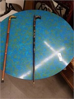 Mother of pearl inlay walking stick
