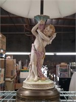 Antique porcelain fig. Vanity lamp