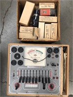 Tube tester and box of tubes