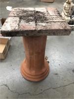 Terra-cotta garden stool