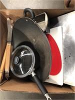 Cutting board, cookie sheet bread pans etc