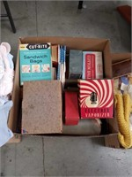 Box of old boxes of cotton and miscellaneous