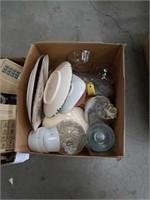 Box of plates and bowls