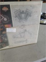 The Billy bike easy rider original drawings framed