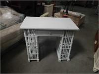 White  rattan small desk