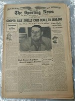 Vintage sporting news paper