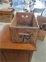 Vintage 7 up wooden Box