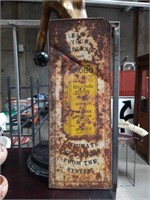 Old hobo rusted sign