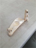 Carved  bear ashtray