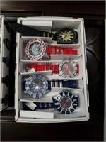 Box of 5 wrist watches